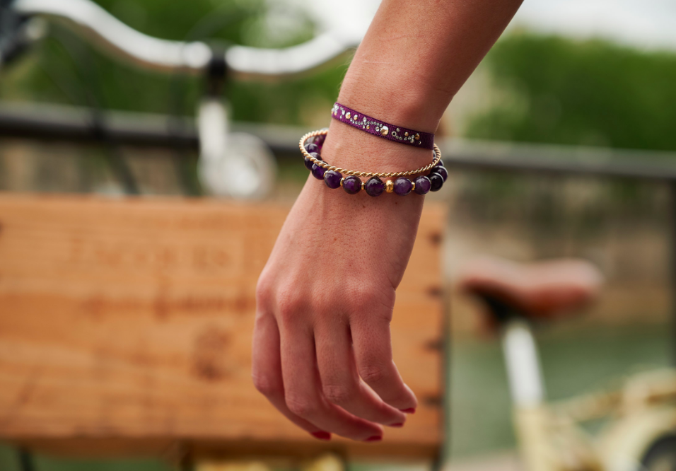 Sets de bracelets Arabesque Les Interchangeables violet