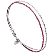 Bijoux Bond - Bracelet chaîne 2 rangs Catch the Rainbow en argent 925, rose, 2.3g