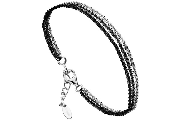 Bracelet 3 rangs Catch the Rainbow en argent 925, noir, 3.5g Bond
