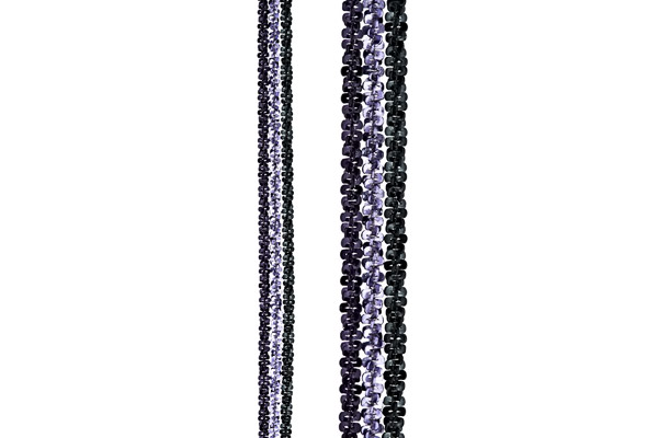 Bracelet 3 rangs Catch the Rainbow en argent 925, violet, 3.5g Bond, gros plan