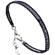 Bijoux Bond - Bracelet 3 rangs Catch the Rainbow en argent 925, violet, 3.5g