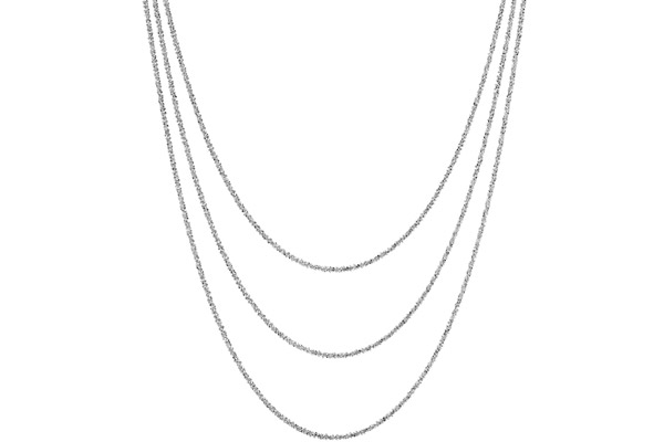 Collier 3 rangs argent 925 rhodié - 15,2 g Bond