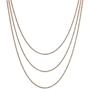 Bijoux Bond - Collier 3 rangs argent 925 doré à l'or rose - 15,2 g