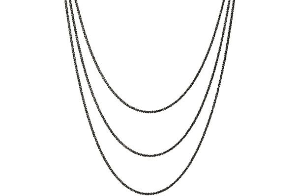 Collier 3 rangs argent 925 noir - 15,2 g Bond