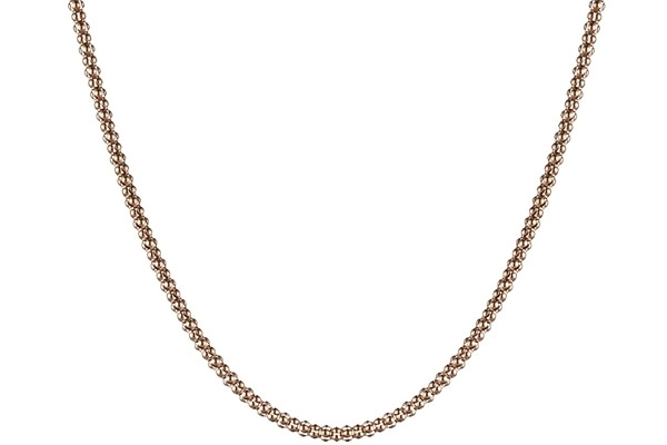 Collier maille popcorn argent 925 doré à l'or rose - 8,8 g Bond