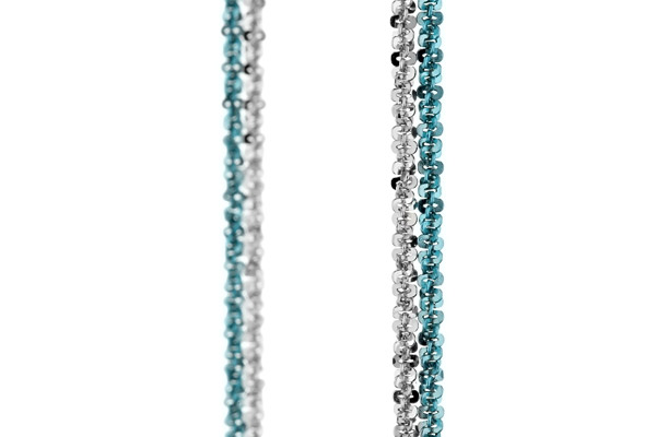 Collier Catch the Rainbow en argent 925, turquoise, 4.8g Bond, gros plan