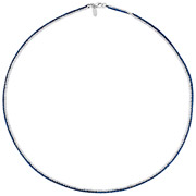 Bijoux Bond - Collier Catch the Rainbow en argent 925, bleu, 4.8g