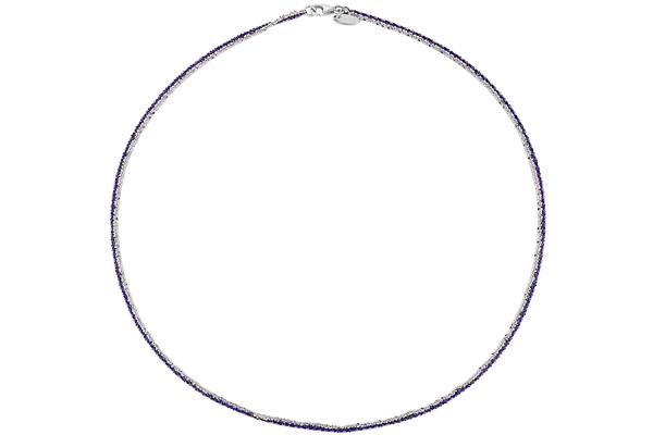 Collier Catch the Rainbow en argent 925, violet, 4.8g Bond
