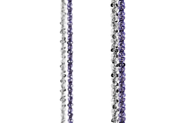 Collier Catch the Rainbow en argent 925, violet, 4.8g Bond, gros plan