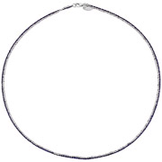 Bijoux Bond - Collier Catch the Rainbow en argent 925, violet, 4.8g