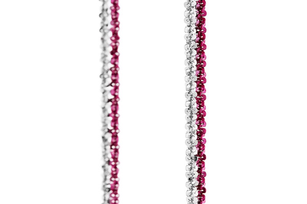 Collier Catch the Rainbow en argent 925, rose, 4.8g Bond, gros plan