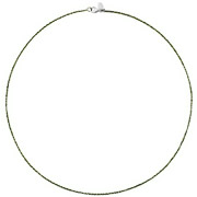 Bijoux Bond - Collier Catch the Rainbow en argent 925, olive, 2.6g