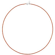 Bijoux Bond - Collier Catch the Rainbow en argent 925, orange, 2.6g