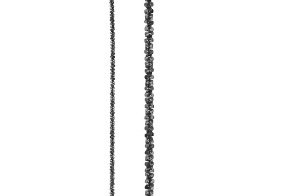 Collier Catch the Rainbow en argent 925, noir, 2.6g Bond, gros plan