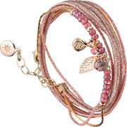 Bijoux By Garance - Bracelet multi-tour Pretty, dorure à l'or fin, rose