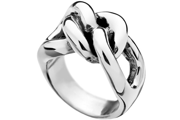 Bague maillons argent 925 - Taille 52 Canyon