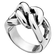 Bague 3 maillons dodus argent - Taille 50 Canyon