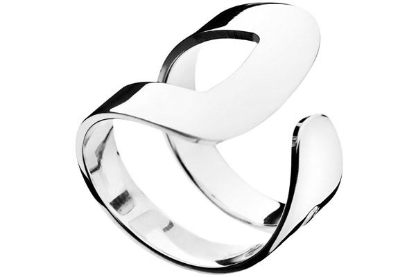 Bague boucle argent 925 - Taille 60 Canyon
