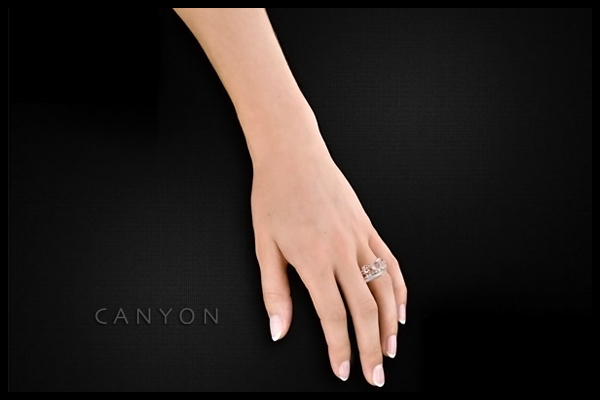 Bague quatuor en argent 925 passivé, Quartz, 9.5g, T56 Canyon, packaging