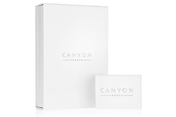 Créoles argent 30mm Canyon, packaging