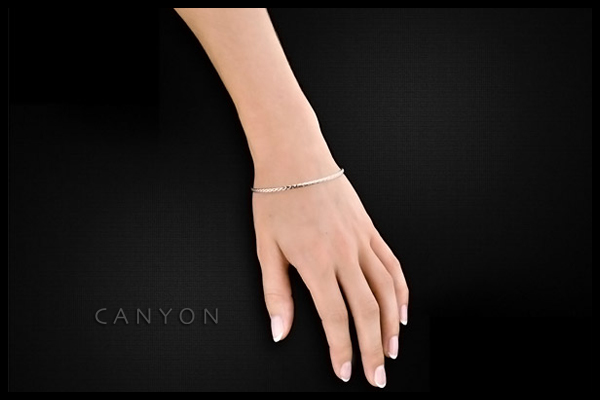 Bracelet jonc en argent 925 passivé, 10.5g, Ø65mm Canyon, packaging