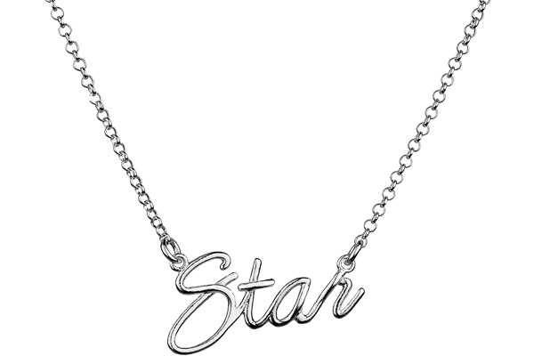 Collier Star en argent 925 passivé, 4.74g Canyon