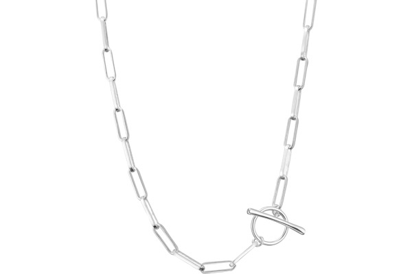 Collier maillons en argent 925, 13.8g Canyon