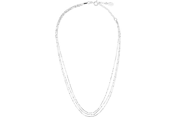 Collier ras de cou 3 rangs en argent 925, 6.70g Canyon