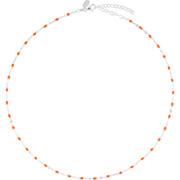 Bijoux Canyon - Collier ras de cou en argent 925, Orange, 2.4g