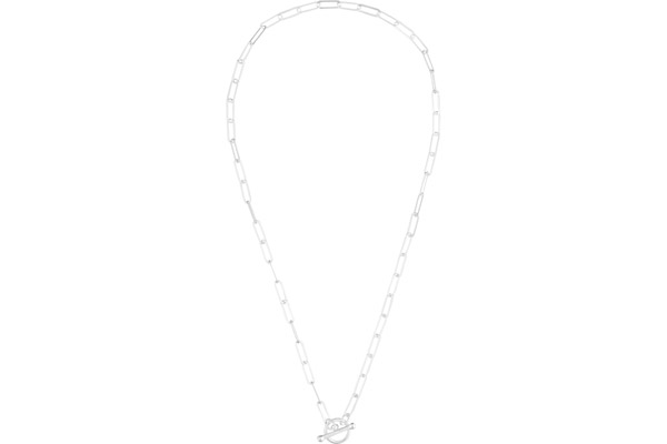 Collier maillons barre en argent 925, 5.9g Canyon