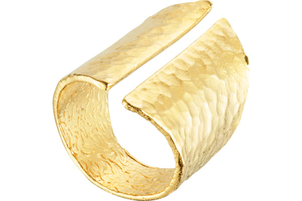 Bague Louisa, plaquage or 18K, cuir, réglable Charly James
