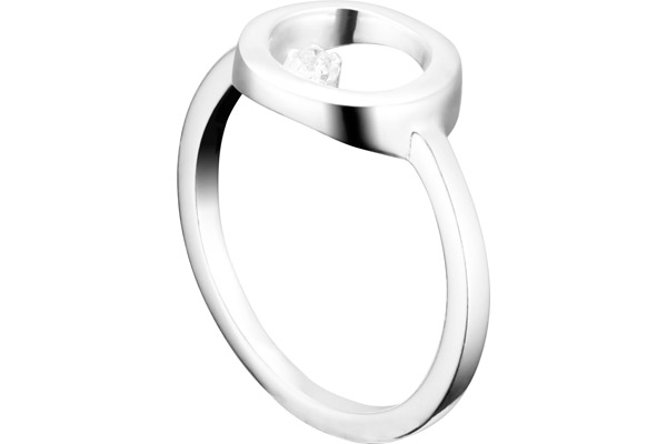 Bague Marilyn en argent 925, brillants, 2.4g, T54 Clio Blue