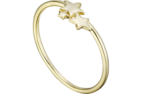 Bague Constellation en argent 925, dorure or 18K, 0.7g, T52 Clio Blue