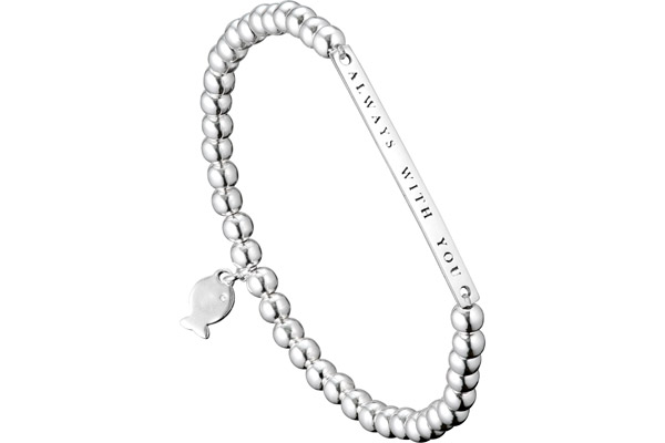 Bracelet perle 'Always with you' Christine en argent 925, 4.4g Clio Blue