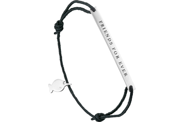 Bracelet cordon 'Friends for ever' Lui de Clio en argent 925, 1.5g Clio Blue