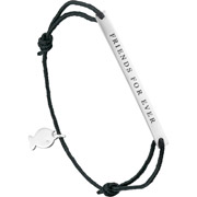 Bijoux Clio Blue - Bracelet cordon 'Friends for ever' Lui de Clio en argent 925, 1.5g