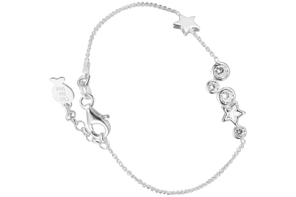 Bracelet chaîne Constellation en argent 925, brillants, 2g Clio Blue