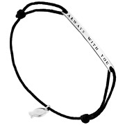 Bijoux Clio Blue - Bracelet cordon always with you en argent 925, noir, 1.6g
