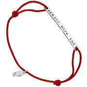 Bijoux Clio Blue - Bracelet cordon always with you en argent 925, rouge, 1.4g