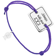 Bijoux Clio Blue - Bracelet cordon et argent 925, Always with you, violet, 4.5g