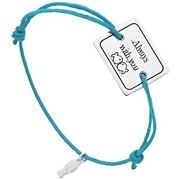 Bijoux Clio Blue - Bracelet cordon et argent 925, Always with you, turquoise, 4.5g