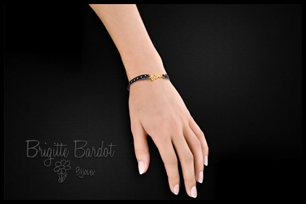 Bracelet cordon icone black dot Brigitte Bardot Clio Blue, packaging