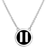 Collier pendentif bouton 'Pause' argent by Quentin Mosimann Clio Blue