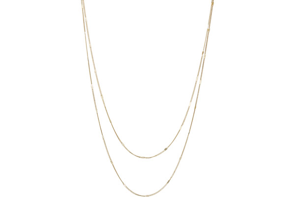 Collier 2 rangs Intemporels en argent 925, dorure or 18K, 3g Clio Blue