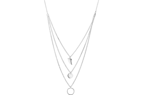 Collier 3 rangs Intemporels en argent 925, 5g Clio Blue