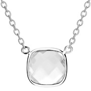 Bijoux Clio Blue - Collier Sissi en argent 925, brillant transparent, 2g
