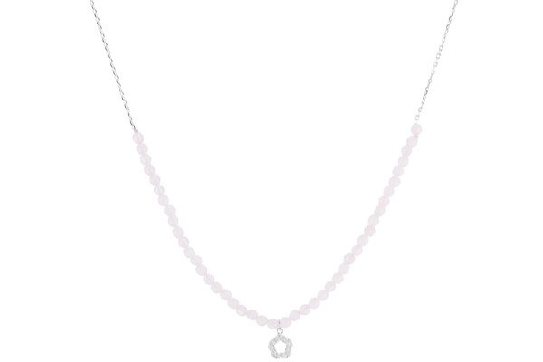 Collier ras de cou Candice en argent 925, brillants, rose, 3.5g Clio Blue
