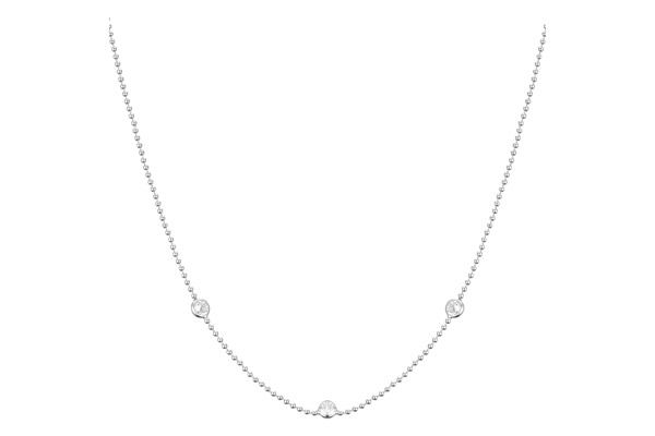 Collier ras de cou Marilyn en argent 925, brillants, 3g Clio Blue