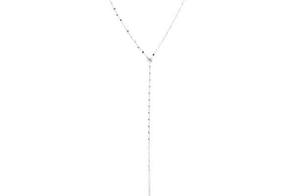Collier cravate Les Multichaines en argent 925, 2.7g Clio Blue