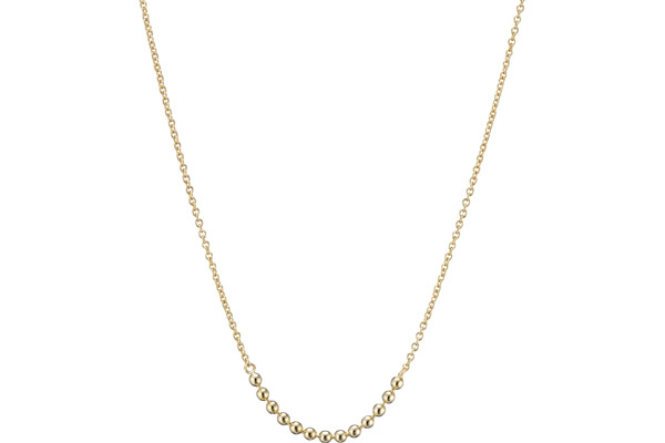 Collier Christine en argent 925, dorure or 14K, 2g Clio Blue